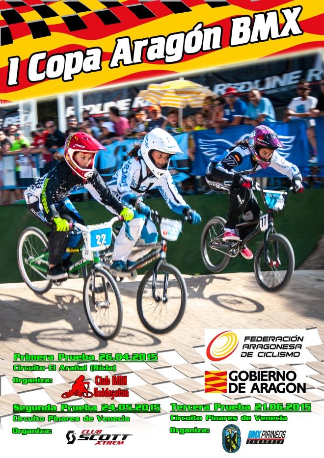 Cartel Copa Aragón BMX